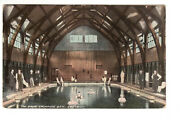 Postcard Brine Swimming Bath Droitwich - Interior Pool Under Domed Roof