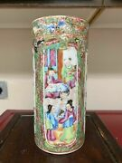 Antique Chinese Famille Rose Porcelain Brush Pot Hat Stand