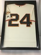 Willie Mays Signed Framed Giants Jersey Autograph Say Hey Authenticated