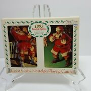 Coca Cola Nostalgia Playing Cards 1993 Limited Edition 2 Decks Santa New In Box
