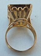 Ring Antique Citrine And Gold