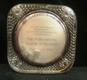 Vintage Portsmouth Ohio College Of Business Glass Paperweight 5 Dice 1900and039s