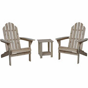 Wooden Adirondack Chairs With Table - 3-pc. Combo