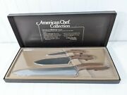 Vintage Chicago Cutlery 3 Pc Knife Set American Chef Collection 1983 Nib, Nos
