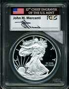 2014-w 1 Proof Silver American Eagle Pr70dcam Pcgs 29324176 Mercanti Signed