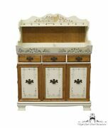 Ethan Allen Decorated Hitchcock Style 40 Dry Sink Cupboard 14-6295