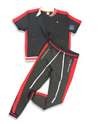 New 2-pc Mens Active Millionaire Classy Track Outfit T-shirt And Track Pants Set