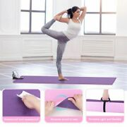 6mm Thick Timing Yoga Mat Fitness Exercise Gym Mat Non Slip With Phone Holder