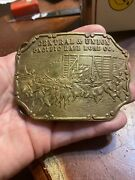 Vintage Rare Tiffiany Od New York Central And Union Pacific Rail Road Co. Buckle