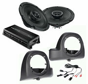 Sx165neo Speakers + Air Cooled Lower Fairing Pods W/ Hmp4d Amp For 14+ Harley