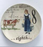 Williams - Sonoma 12 Days Of Christmas 8th Eighth Day 8 3/4 Inch Plate Salad