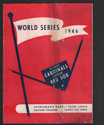 1946 World Series Program Cardinals Red Sox Sportsman Park Red Cover 062921dbe