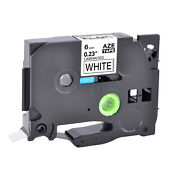 80pk Black On White Tz-211 Tze-211 1/4and039and039 Label Tape For Brother P-touch Pt-e100