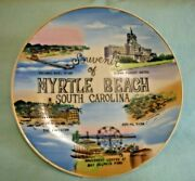 Vintage Myrtle Beach South Carolina Souvenir Plate 8 By Wales Made In Japan