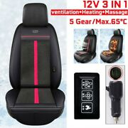 3in1 Cooling Fan Massager Heated Seat Cover Cushion Car Truck 10 Cooler Fans New