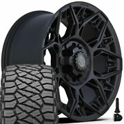 4play Wheels 4ps60 18x9 And 275/65r18 Ridge Grappler Set For Ford Chevy Gmc