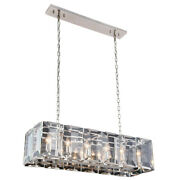 Chandelier Polished Nickel And Glass Kitchen Island Dining Room 12 Light 40
