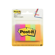 Post-it Page Markers Assorted Colors 1 Ea Pack Of 9