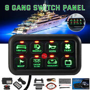 8 Gang Universal Circuit Control Box Button Switch Led Pod Touch Switch Panel