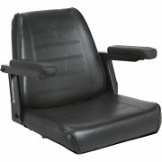 Wise Universal Tractor Seat With Armrests - Black, Model Xwm1160
