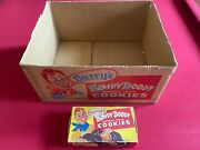 1950's, Howdy Doody, Burry's Cookies Display Box And Carton Rare Vintage