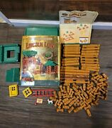 Lincoln Logs Wild West Frontier Log Playset Vintage