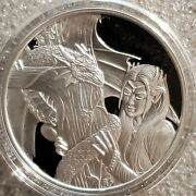 1 Oz .999 Silver Proof Round Anne Stokes Dragonand039s Rare Kindred Spirits With Coa