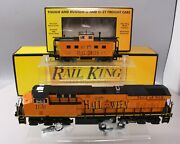 Mth 30-20323-1 Halloween Es44ac Imperial Diesel And Caboose Set W/ps3 Ln/box