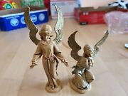 Set Of 2 Fontanini Italy 1983 Kneeling And Standing Angels Nativity Figurines