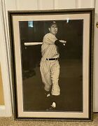 Joe Dimaggio Yankees Vintage 3ft X 4ft 1940and039s Sport Magazine Poster Autographed