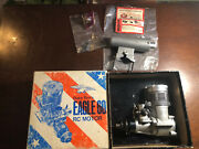 Vintage Duke Foxs Eagle 60 Rc Motor With Silencer And Extra Engine Parts Mint