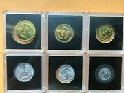 Very Rare Lots Of 6 The Peopleand039s Republic Of China Coin Set 1982 1 Yuan Missing