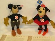 Steiff Disney 2007 Limited Edition Mickey Mouse And Minnie Mouse 1930's Models