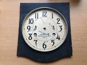 Large International Time Recording Company Clock Dial Face 30cm Wide 35cm Tall