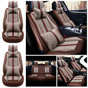 Universal Car Seat Cover Pu Leather Accessories Interior Cushion 5-sit Protector