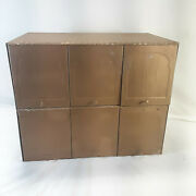 Vintage Metal Six Slot Mailbox With Doors Front Loading Mail Box