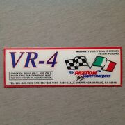 Paxton Supercharger Vr-4 Decal Drag Race Mustang Camaro Studebaker Mcculloch