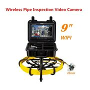 50m 9 Inch Wifi Drain Inspection Sewer Camera Dvr Video 16gb Support Android/ios