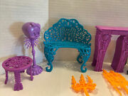 12 Monster High Doll Furniture Catacombs Chaise Lounge Mantel Lot