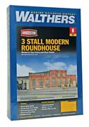 Walthers 933-3260 N 3-stall Modern Roundhouse Building Kit