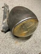Rite Way Head Light Early Automobile Vintage Truck Lamp Corcoran Bown Glass Lens
