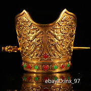 4.2 China Collection Old Pure Copper Gilt Seiko Casting Official Hat