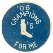 Rare 1906 Chicago White Sox Vs Cubs World Series Champions Pin Button Pinback