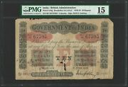 India 10 Rupees 1918 Government Calcutta - Gubbay P-a10g Pmg 15 Choice Fine