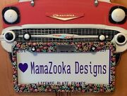 Mary Engelbreit Flowers License Plate Frame By Mamazooka Designs