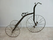 Antique 1900and039s Victorian Steel Tricycle Bicycle Rare