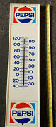 Vintage Pepsi Please Bottle White Gas Station Thermometer Sign