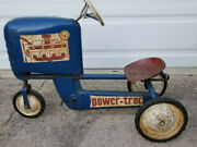 Vintage Amf Metal Pedal Power Trac Tractor Early Model