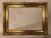 Large Antique Boston Impressionist Arts And Crafts Period Gold Gilt Picture Frame