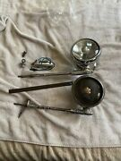 Vintage Pair Sealed Guide Spot Spot Light With Rear View Mirror